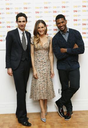 Zac Posen, Sarah Jessica Parker, and Usher